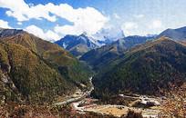 高山峡谷风景