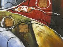 厚油抽象装饰画