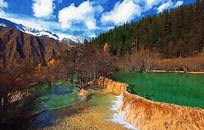 九寨山水风景