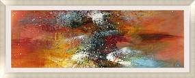酒店抽象油画 喷绘写真仿真油画高清图片