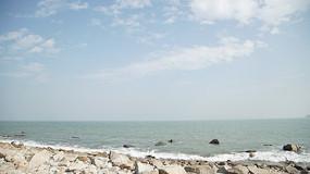 广阔的海边
