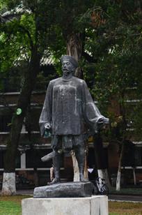 清朝人物雕塑图片