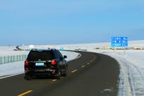 省道S301公路雪景