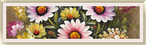 花卉油画 仿真抽象油画高清图片素材