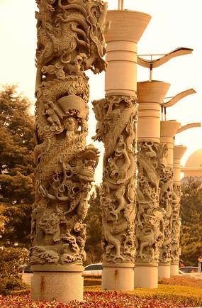石柱盘龙雕刻图片