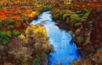 丛林河流装饰画