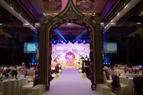 城堡门婚礼布置