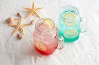 红兰气泡汽泡水饮品