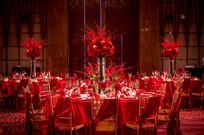 红色婚礼餐桌椅