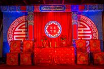 红色婚礼舞台背景