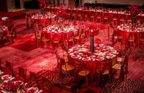 红色婚庆餐桌椅