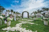 花卉草坪婚礼布置