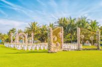 花艺草坪婚礼布置