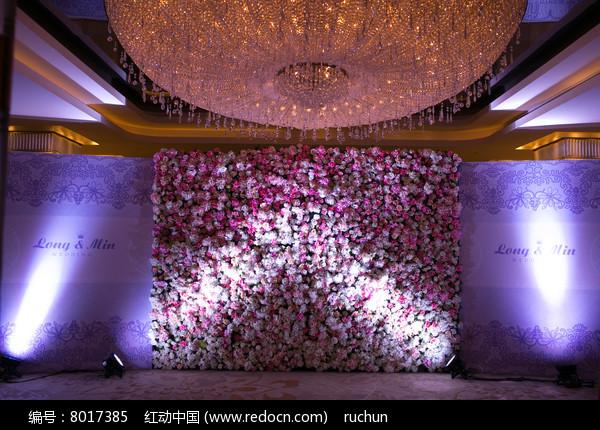 花艺灯光婚礼背景图片