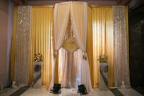 婚礼布帘装饰