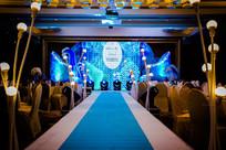 蓝色背景婚礼舞台