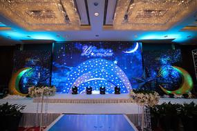 蓝色主题婚礼场景布置
