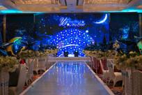 蓝星婚礼舞台背景