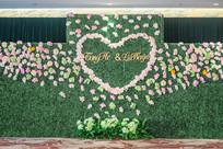 绿色婚礼舞台背景