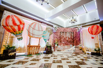 气球壁画婚礼布置