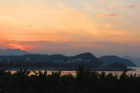 三亚大东海的黄昏美景