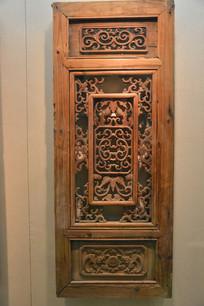 文物木雕瓜纹木窗