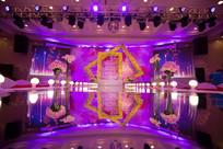 新婚紫色舞台布置
