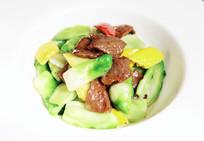 儿菜爆炒牛肉片