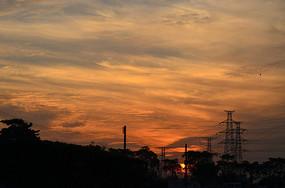 金色的夕阳风景图片
