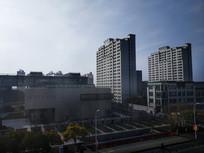 高空看城市高层