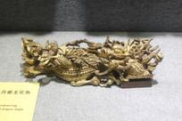 金漆木雕牡丹龙花角