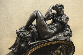 意大利雕塑黑夜