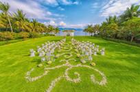 草坪海边婚宴