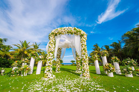 户外花艺草坪婚礼