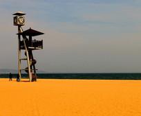 金黄色的沙滩高清图片