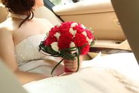 新娘手中的手捧花
