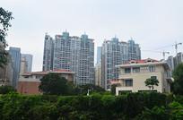 别墅与高楼大厦风光图片