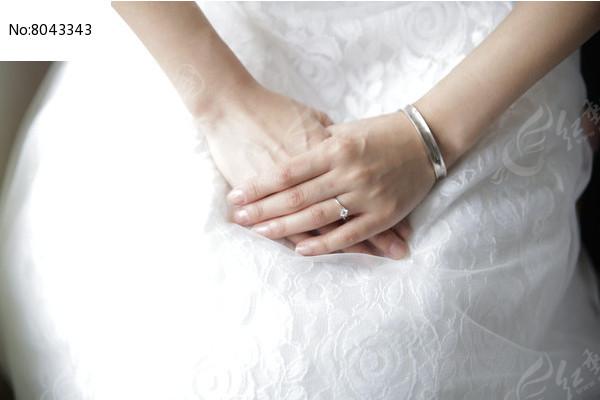 婚礼上新娘手特写