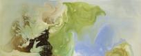现代水墨画 流彩 抽象画
