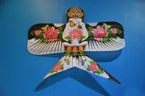 鸟形牡丹图案风筝