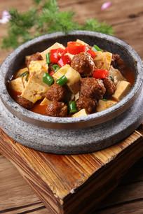 石锅丸子焗豆腐