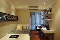 小型卧室及书桌室内装饰