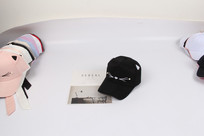 黑色小猫咪个性棒球帽