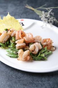 橄榄菜炒虾球