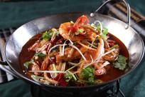 干锅茶树菇虾
