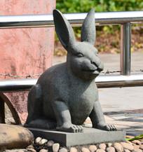 兔子雕塑艺术图片