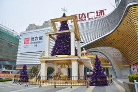 万达广场圣诞灯塔