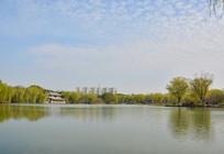 吴江公园湖水