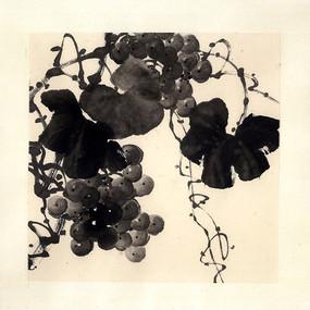 水墨画葡萄