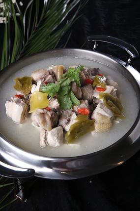 菜豆腐酸菜炖土鸡